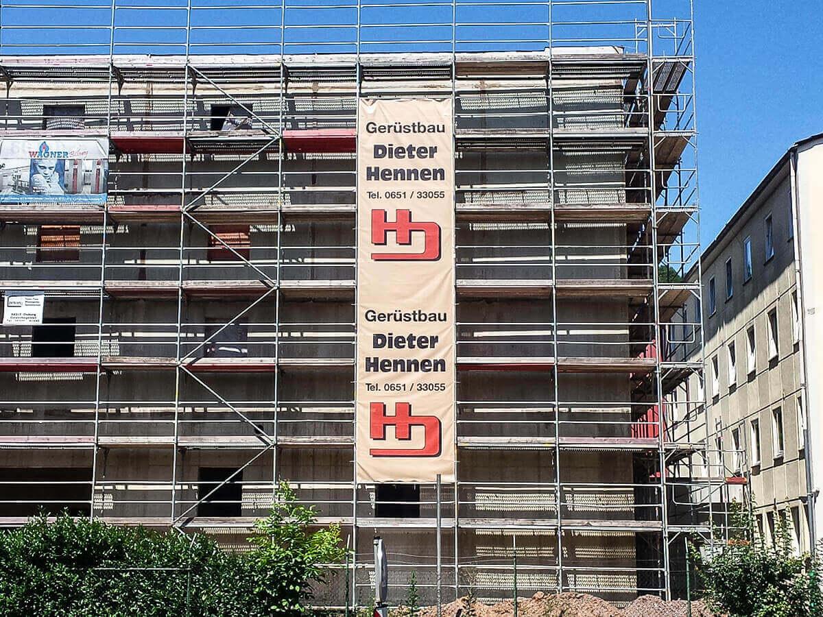 Gerüstbau Hennen GmbH - Bannerwerbung