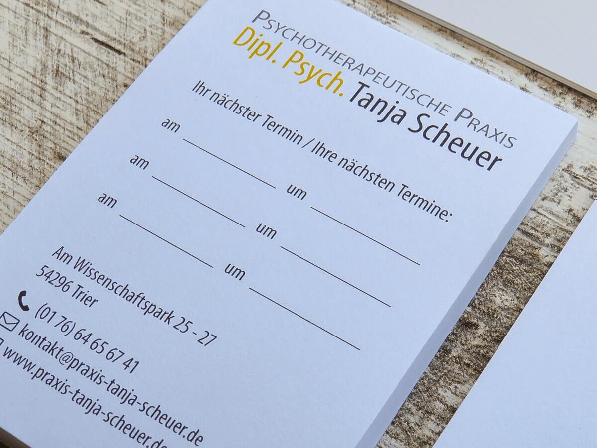 Dipl.-Psych. Tanja Scheuer - Geschäftsausstattung