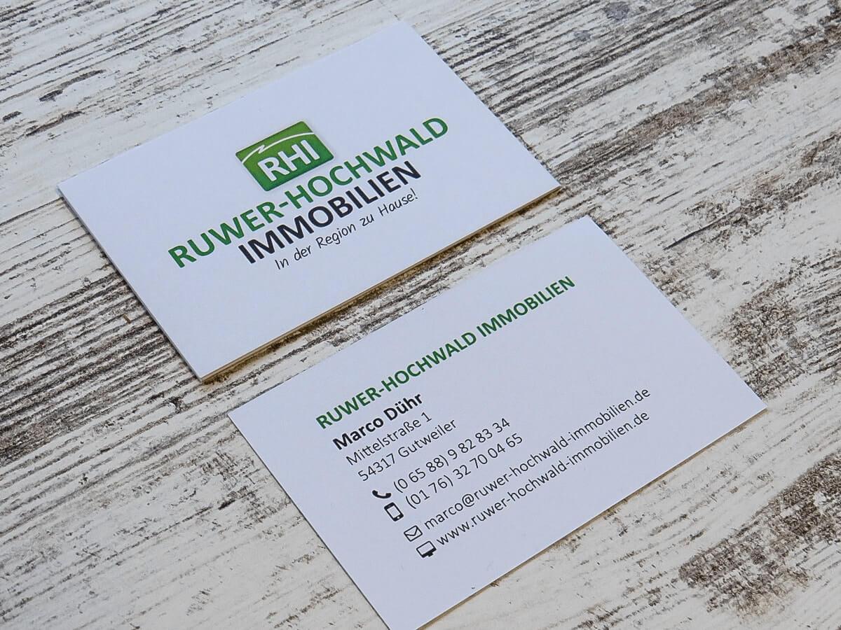 Ruwer-Hochwald Immobilien - Visitenkarten