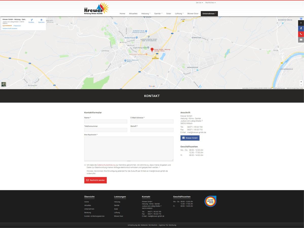 Krewer GmbH - Neuer Webauftritt