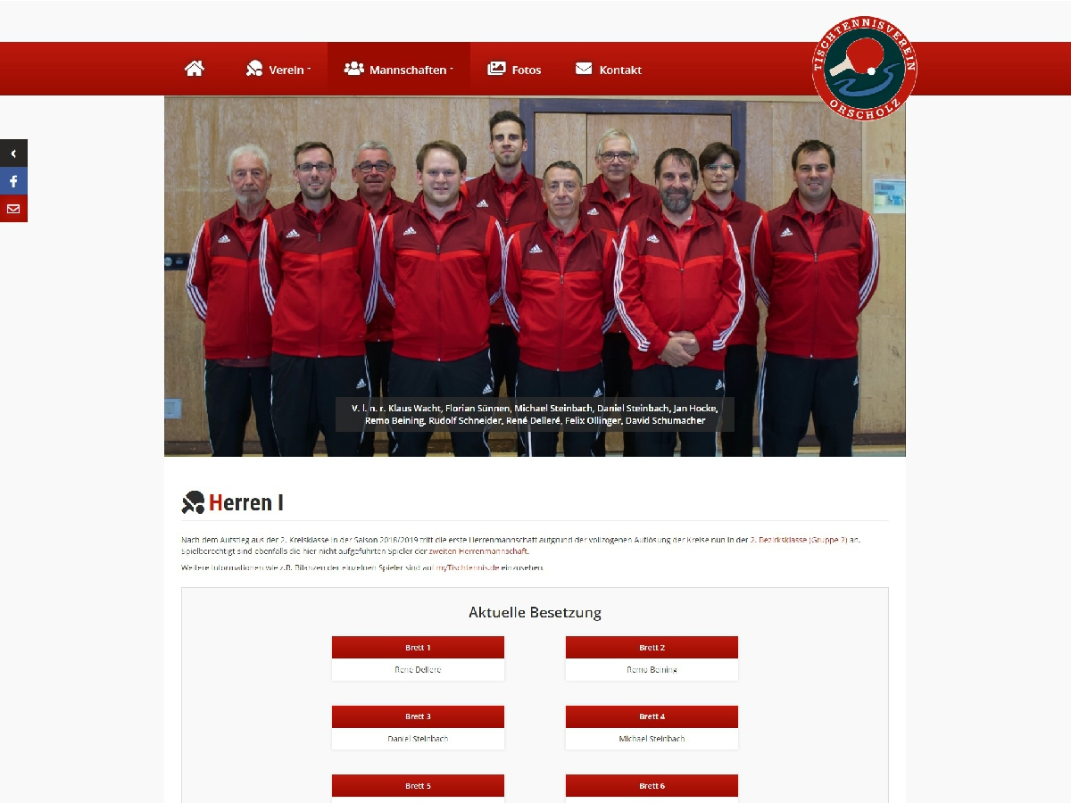 TTV Orscholz - Relaunch